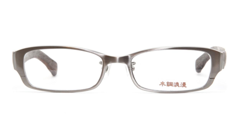 木調浪漫 弐拾弐-しおじ [メタル/鯖江産/スクエア/グレー]