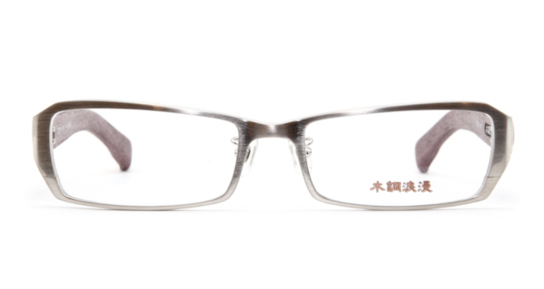 木調浪漫 弐拾四-きはだ [メタル/鯖江産/スクエア/グレー]