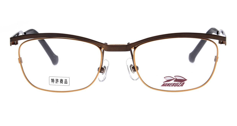 HANERUZA HN-1041-02 [メタル/鯖江産/ウェリントン/茶色]