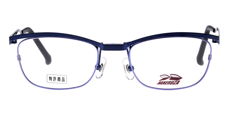 HANERUZA HN-1041-03 [メタル/鯖江産/ウェリントン/青]