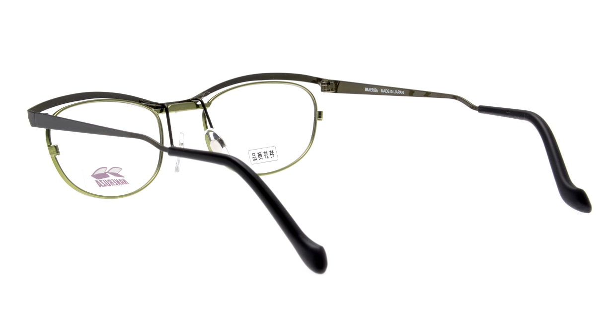 HANERUZA HN-1042-06 [メタル/鯖江産/ウェリントン/緑]  3
