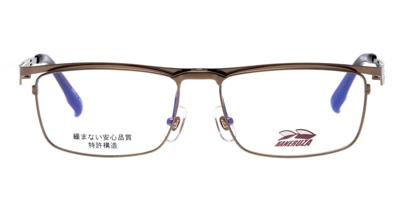 ハネルザHN-1043-BR-54 [メタル/鯖江産/ウェリントン/茶色]