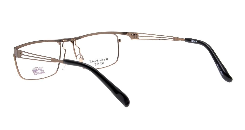 ハネルザHN-1043-BR-54 [メタル/鯖江産/ウェリントン/茶色]  3