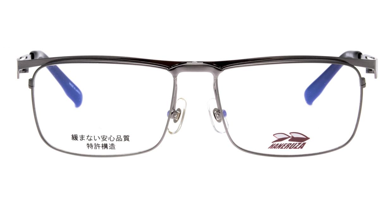 HANERUZA HN-1043-GRY [メタル/鯖江産/ウェリントン/シルバー]