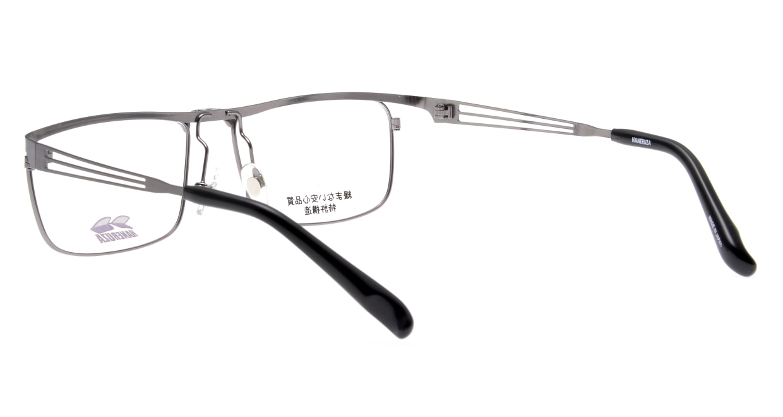 HANERUZA HN-1043-GRY [メタル/鯖江産/ウェリントン/シルバー]  3