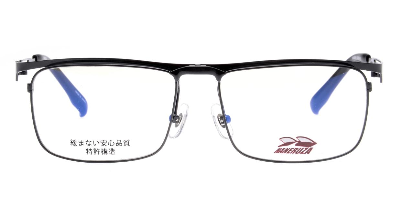 ハネルザHN-1044-BK-54 [メタル/鯖江産/ウェリントン]