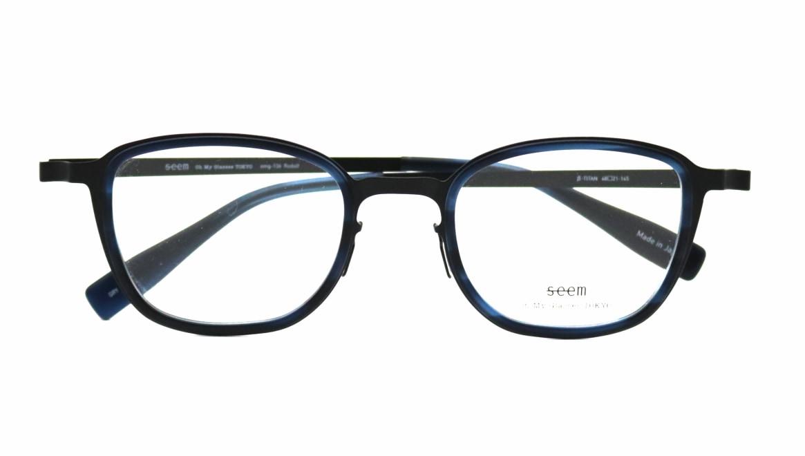 seem Oh My Glasses TOKYO omg-136 Rudolf-BKMーBL-48 [メタル/鯖江産/ウェリントン]  4