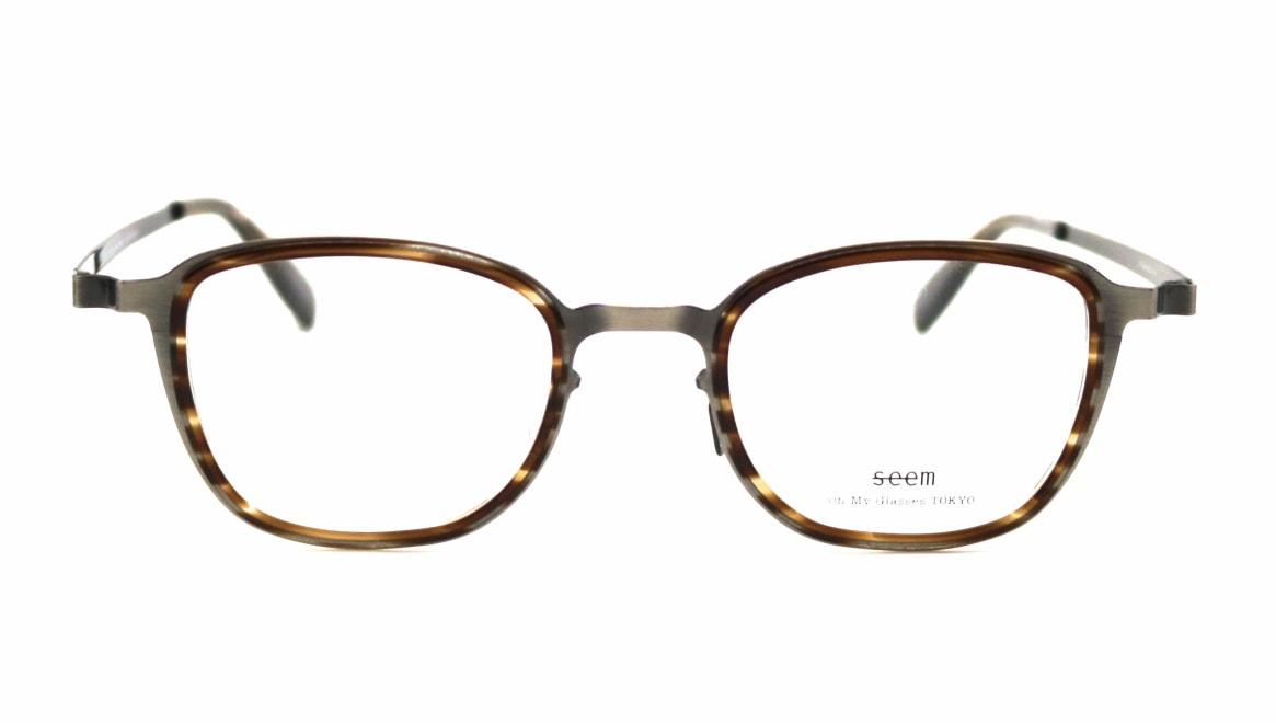 seem Oh My Glasses TOKYO omg-136 Rudolf-ATSーBR-48 [メタル/鯖江産/ウェリントン/シルバー]