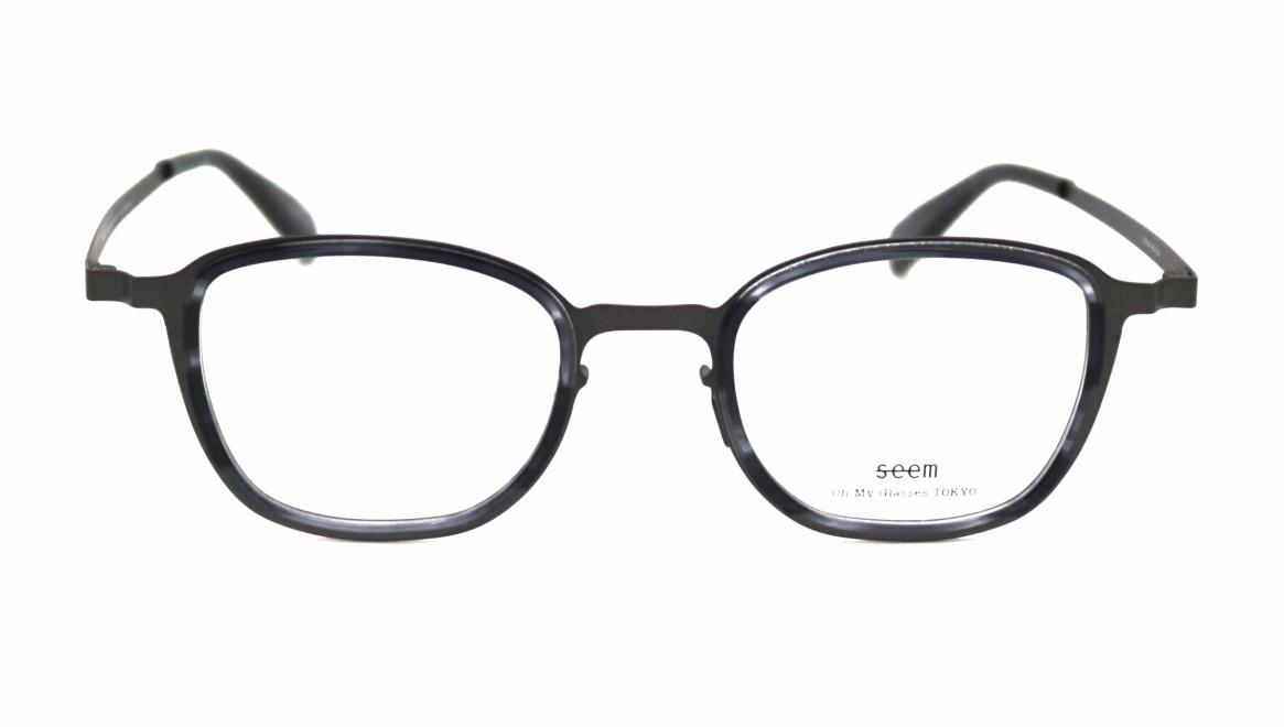 seem Oh My Glasses TOKYO omg-136 Rudolf-GRY-48 [メタル/鯖江産/ウェリントン/グレー]