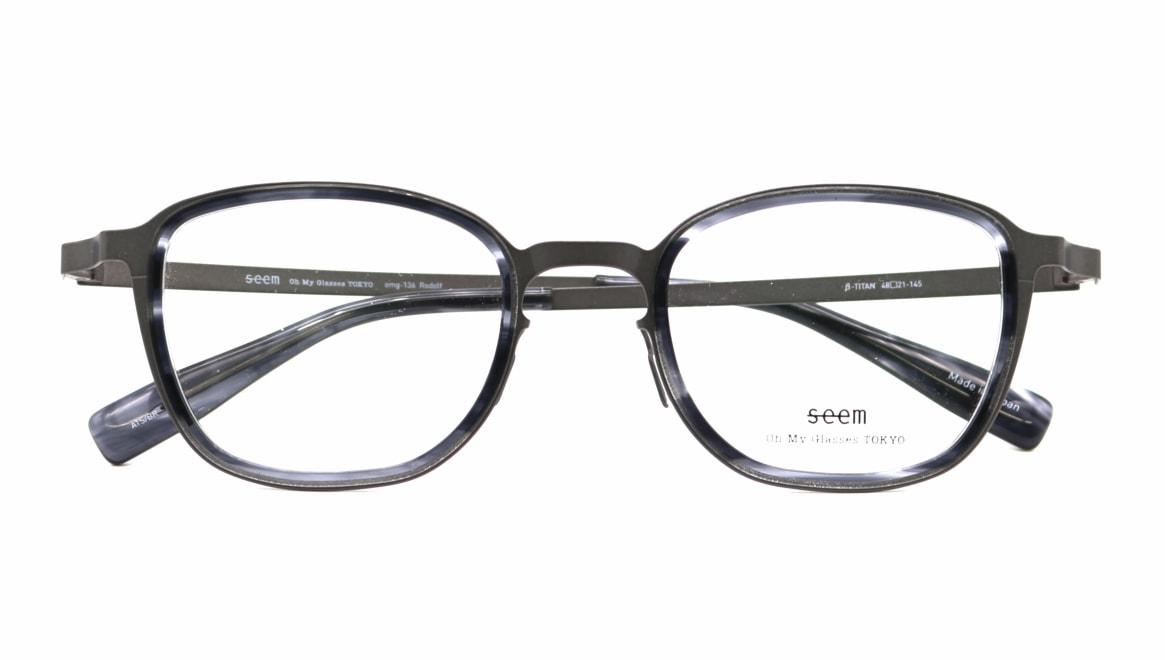 seem Oh My Glasses TOKYO omg-136 Rudolf-GRY-48 [メタル/鯖江産/ウェリントン/グレー]  4