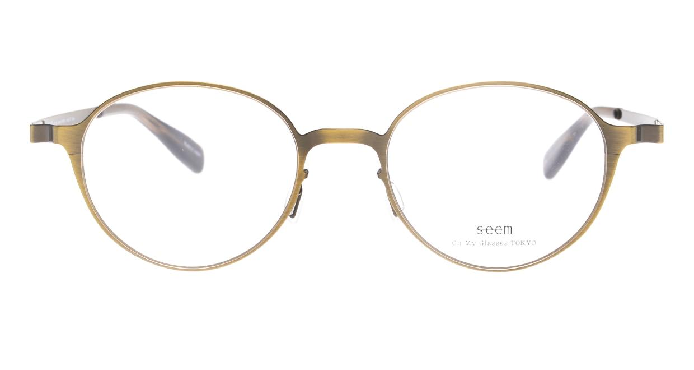 seem Oh My Glasses TOKYO omg-137 Susan-ATG-50 [メタル/鯖江産/丸メガネ/ゴールド]