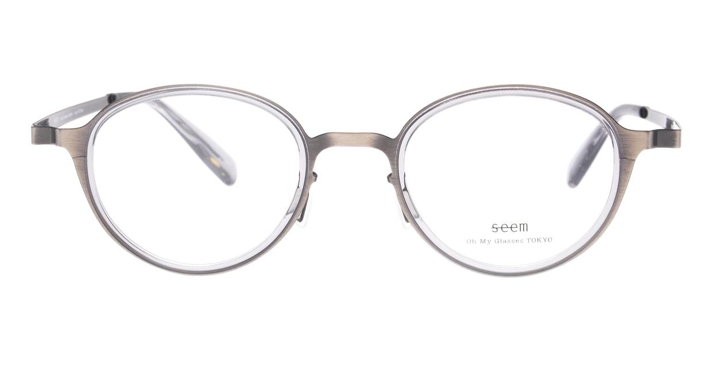 seem Oh My Glasses TOKYO omg-138 Rosa-ATSーCG-48 [メタル/鯖江産/丸メガネ/シルバー]