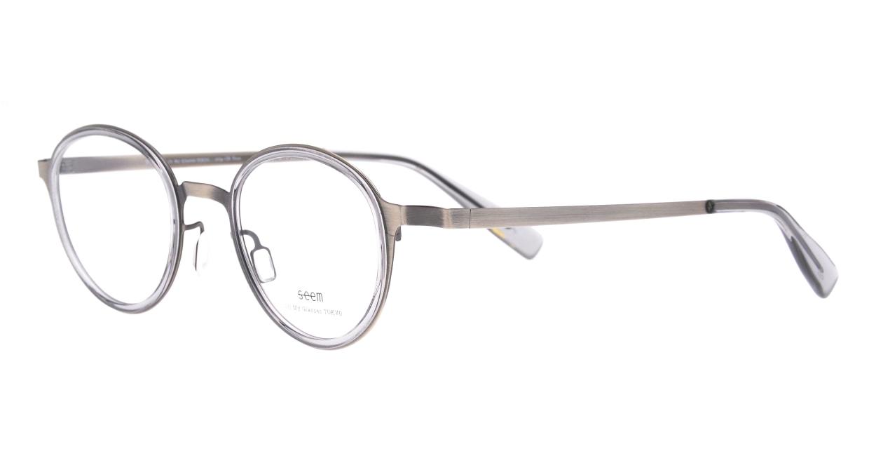 seem Oh My Glasses TOKYO omg-138 Rosa-ATSーCG-48 [メタル/鯖江産/丸メガネ/シルバー]  1
