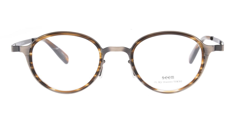 seem Oh My Glasses TOKYO omg-138 Rosa-ATSーBR-48 [メタル/鯖江産/丸メガネ/シルバー]