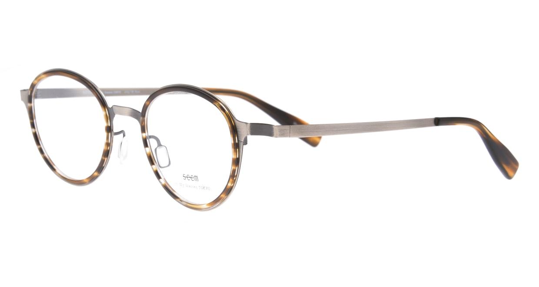 seem Oh My Glasses TOKYO omg-138 Rosa-ATSーBR-48 [メタル/鯖江産/丸メガネ/シルバー]  1