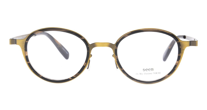 seem Oh My Glasses TOKYO omg-138 Rosa-ATGーDBR-48 [メタル/鯖江産/丸メガネ/ゴールド]