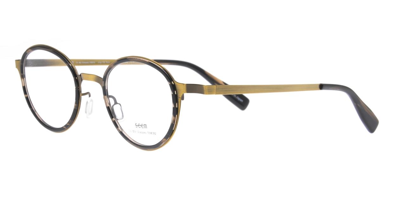 seem Oh My Glasses TOKYO omg-138 Rosa-ATGーDBR-48 [メタル/鯖江産/丸メガネ/ゴールド]  1