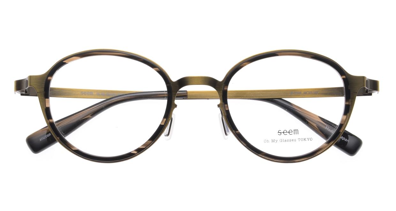 seem Oh My Glasses TOKYO omg-138 Rosa-ATGーDBR-48 [メタル/鯖江産/丸メガネ/ゴールド]  4