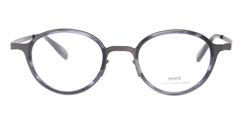 seem Oh My Glasses TOKYO omg-138 Rosa-GRY-48 [メタル/鯖江産/丸メガネ/グレー]