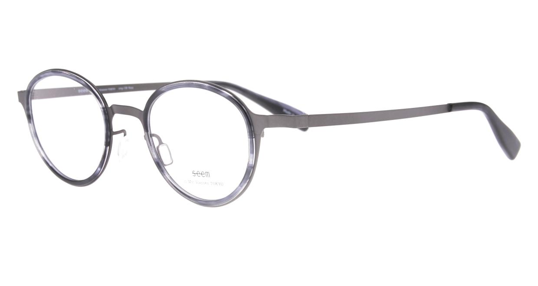 seem Oh My Glasses TOKYO omg-138 Rosa-GRY-48 [メタル/鯖江産/丸メガネ/グレー]  1