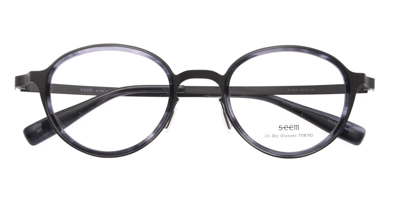 seem Oh My Glasses TOKYO omg-138 Rosa-GRY-48 [メタル/鯖江産/丸メガネ/グレー]  4