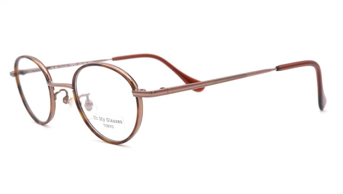 Oh My Glasses TOKYO Emily omg-139-BR [メタル/鯖江産/丸メガネ/茶色]  1