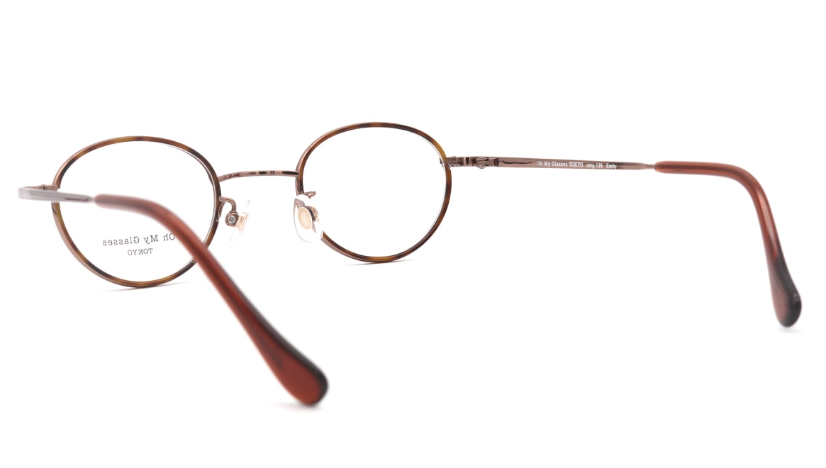 Oh My Glasses TOKYO Emily omg-139-BR [メタル/鯖江産/丸メガネ/茶色]  3