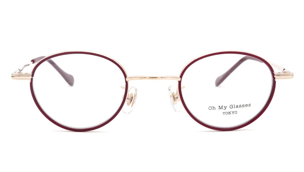 Oh My Glasses TOKYO Emily omg-139-GP [メタル/鯖江産/丸メガネ/赤]