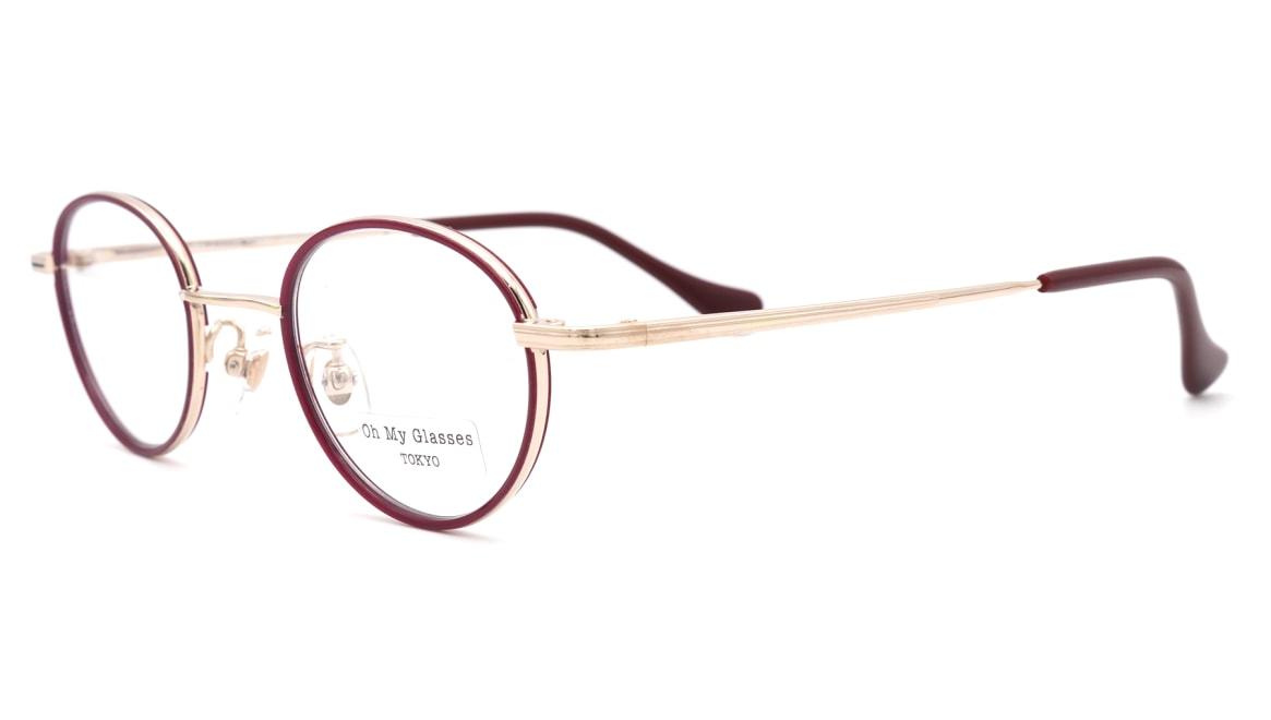 Oh My Glasses TOKYO Emily omg-139-GP [メタル/鯖江産/丸メガネ/赤]  1