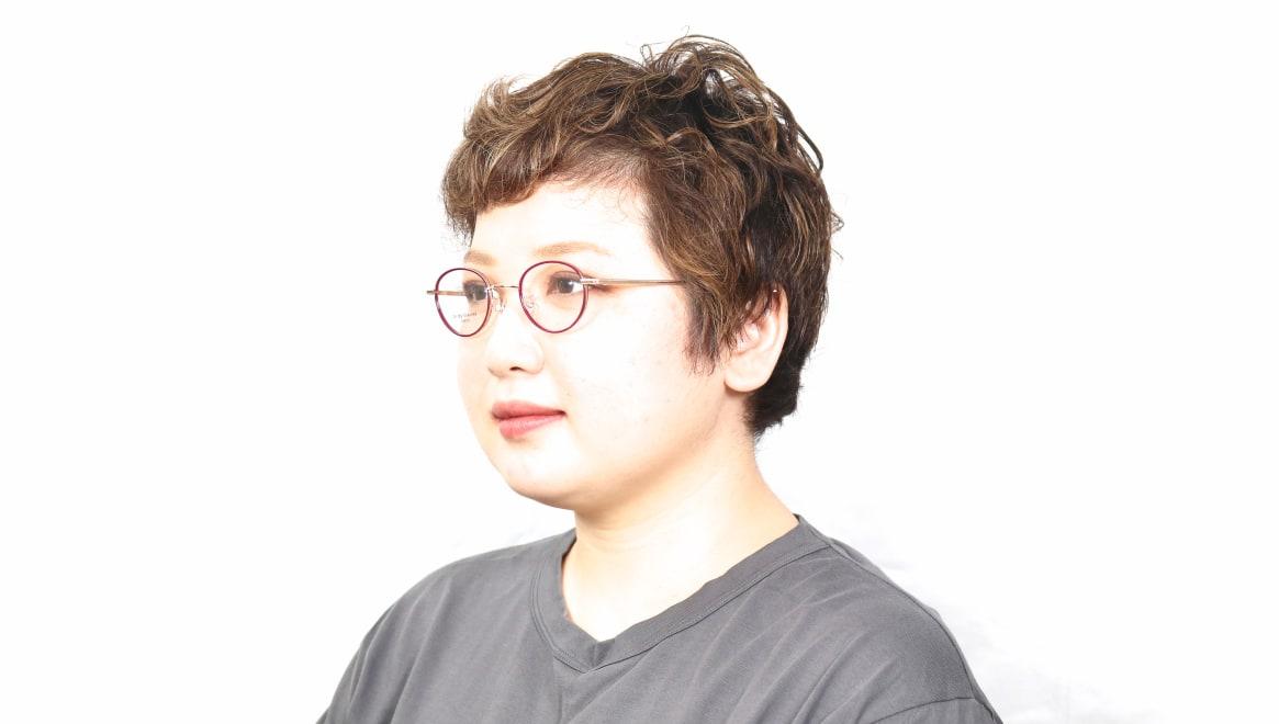 Oh My Glasses TOKYO Emily omg-139-GP [メタル/鯖江産/丸メガネ/赤]  5