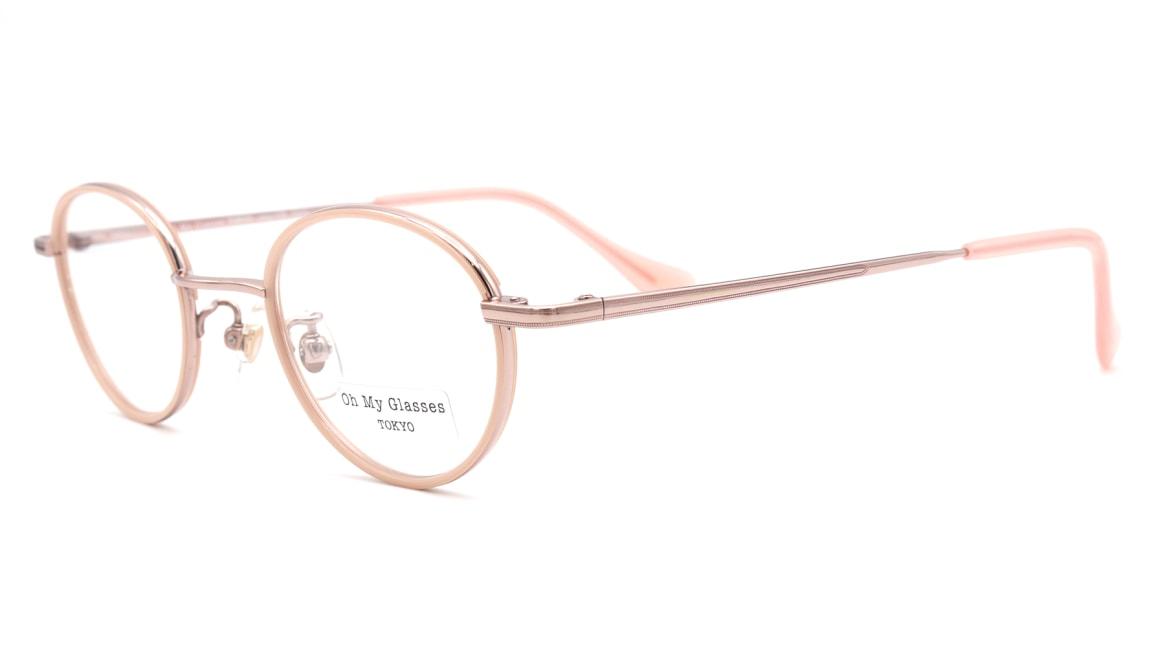 Oh My Glasses TOKYO omg-139 Emily-PK [メタル/鯖江産/丸メガネ/ピンク]  1
