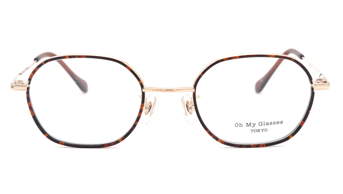 Oh My Glasses TOKYO omg-140 Sofia-GP [メタル/鯖江産/スクエア/べっ甲柄]