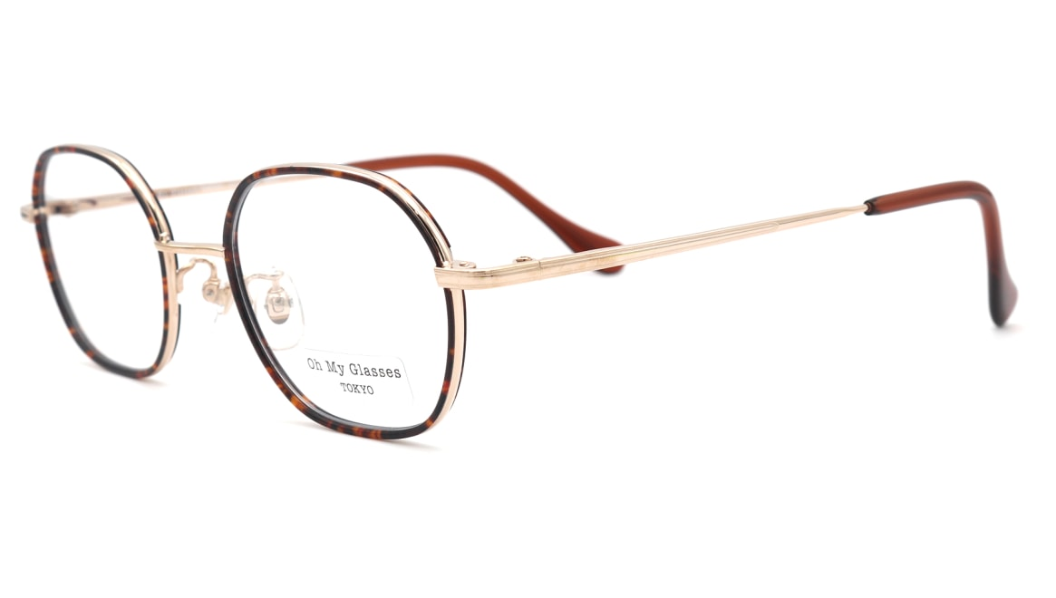 Oh My Glasses TOKYO omg-140 Sofia-GP [メタル/鯖江産/スクエア/べっ甲柄]  1