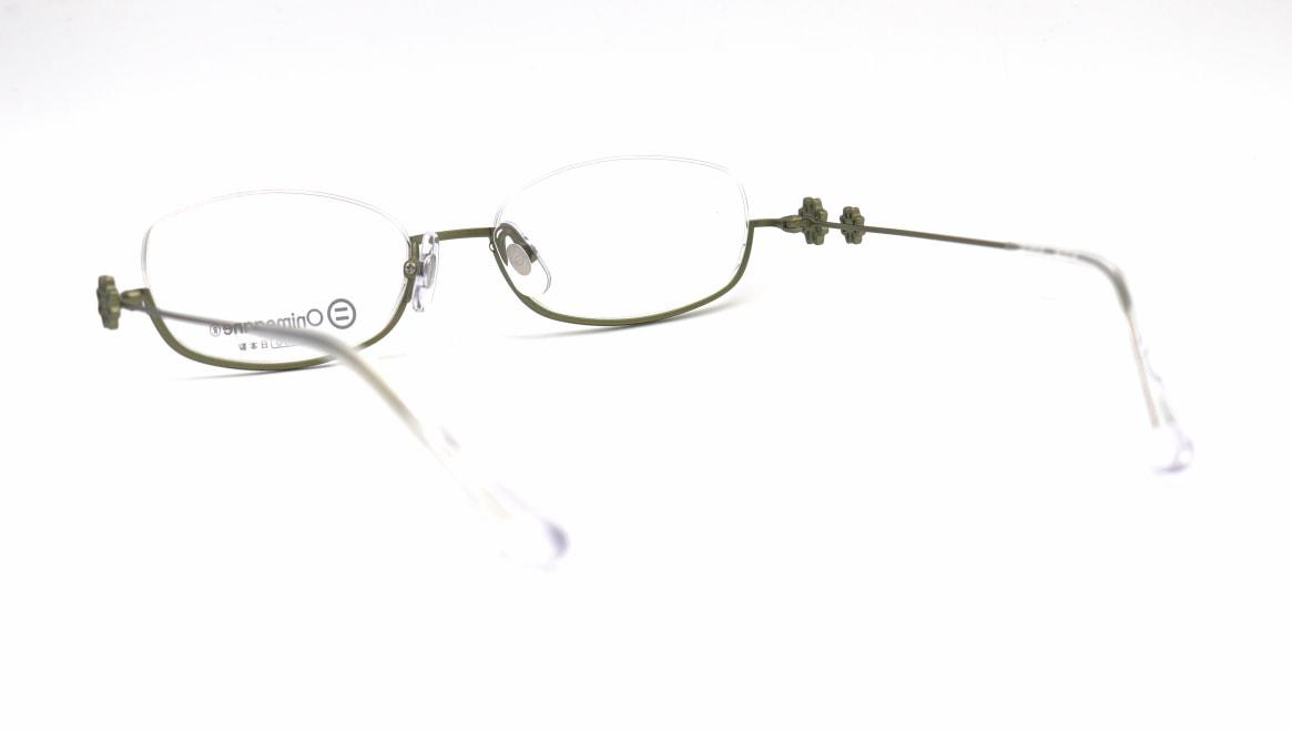 オニメガネ OG-7224-GR-48 [メタル/鯖江産/アンダーリム/オーバル/緑]  3
