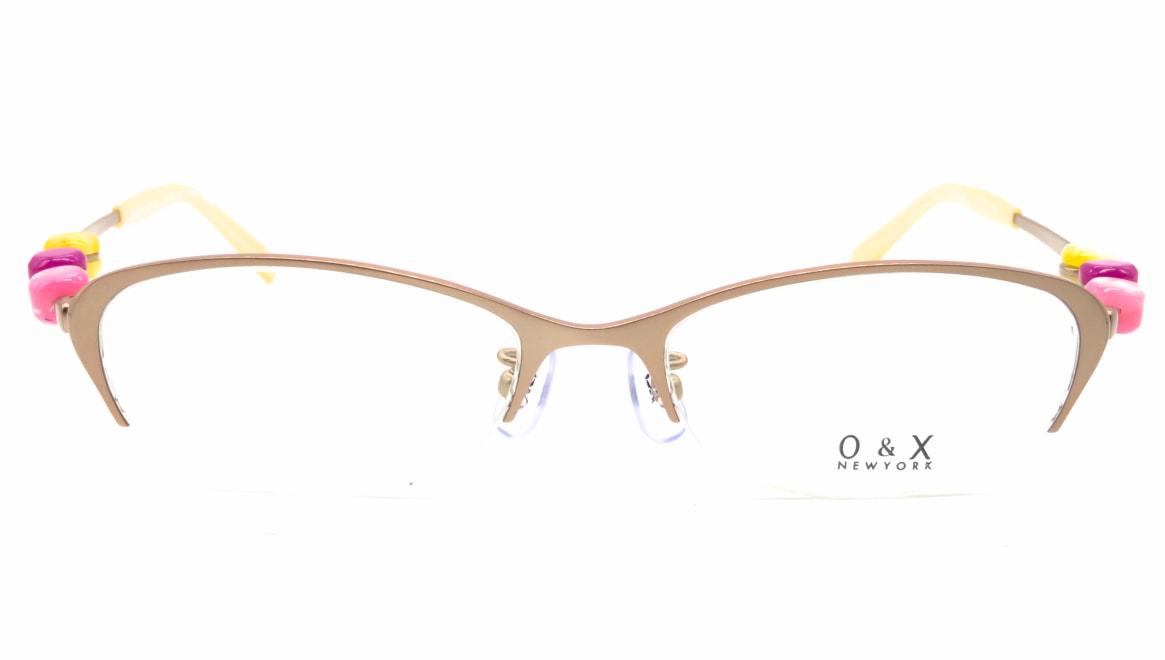オーアンドエックスニューヨーク OT-8042J-03 [メタル/鯖江産/ハーフリム/オーバル/ベージュ]
