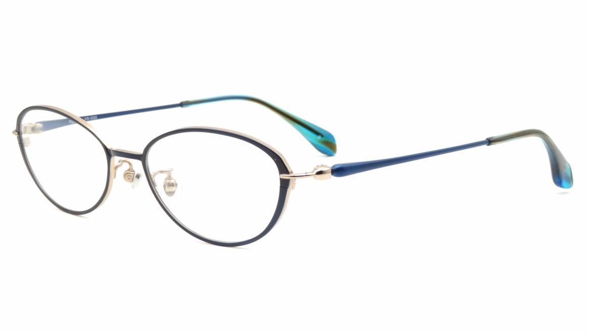 ヴィセ VS-003-2-50 [メタル/鯖江産/オーバル/青]  1