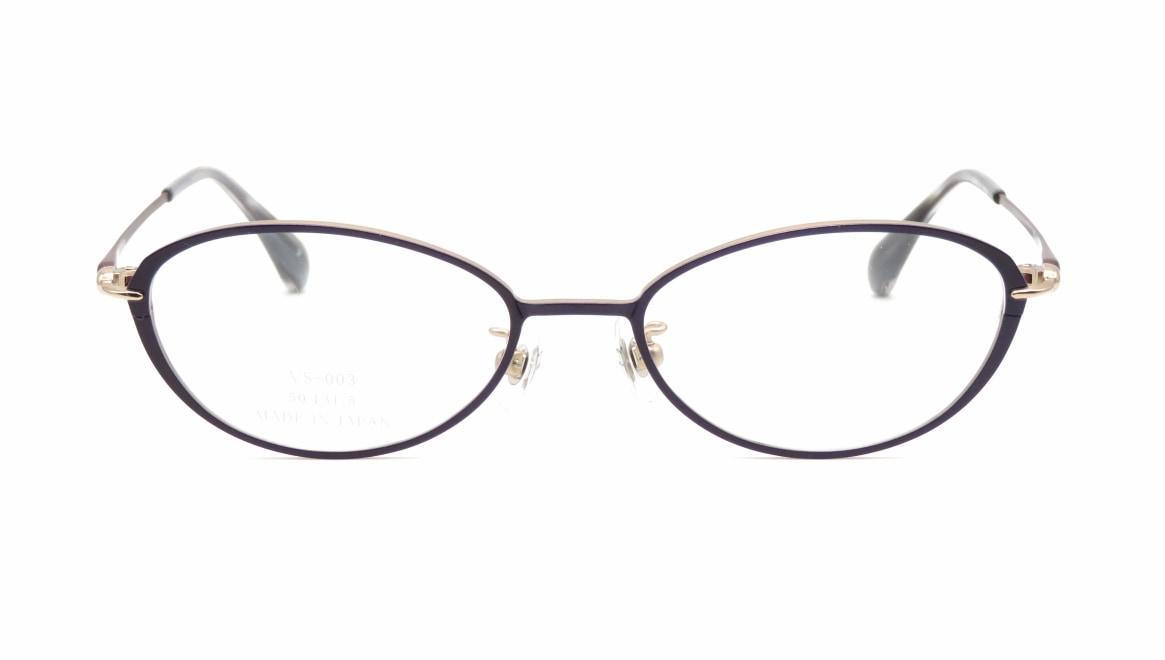 ヴィセ VS-003-3-50 [メタル/鯖江産/オーバル/紫]