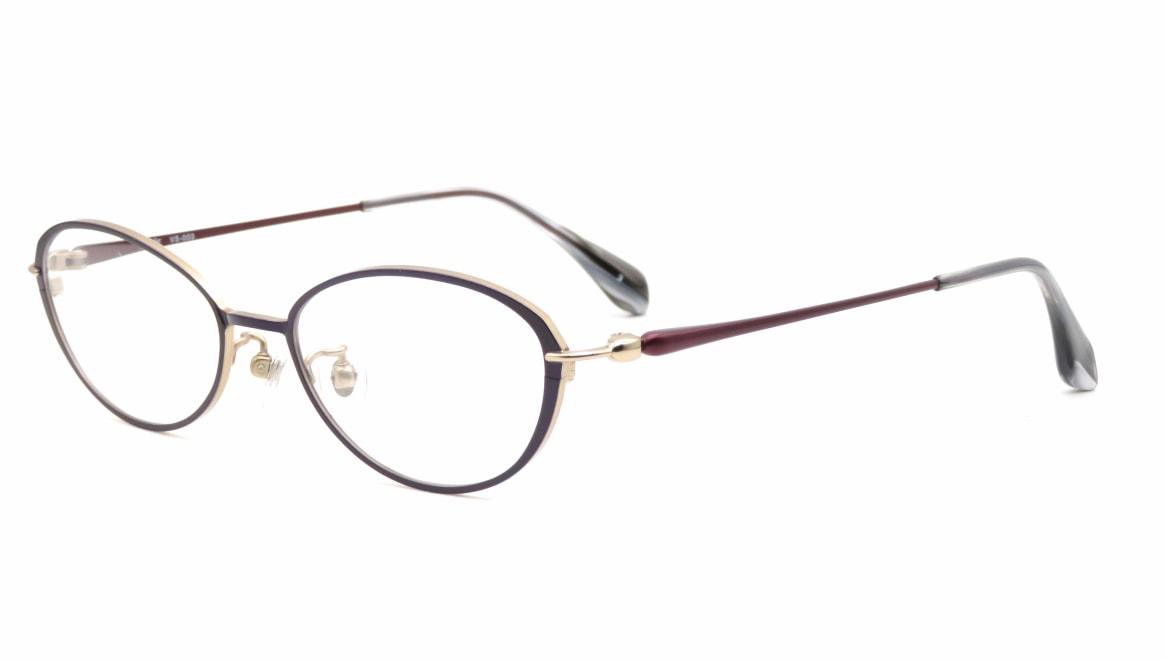 ヴィセ VS-003-3-50 [メタル/鯖江産/オーバル/紫]  1