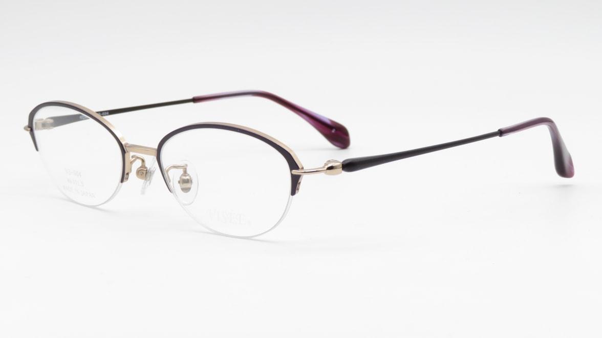 ヴィセ VS-004-2-49 [メタル/鯖江産/ハーフリム/オーバル/紫]  1