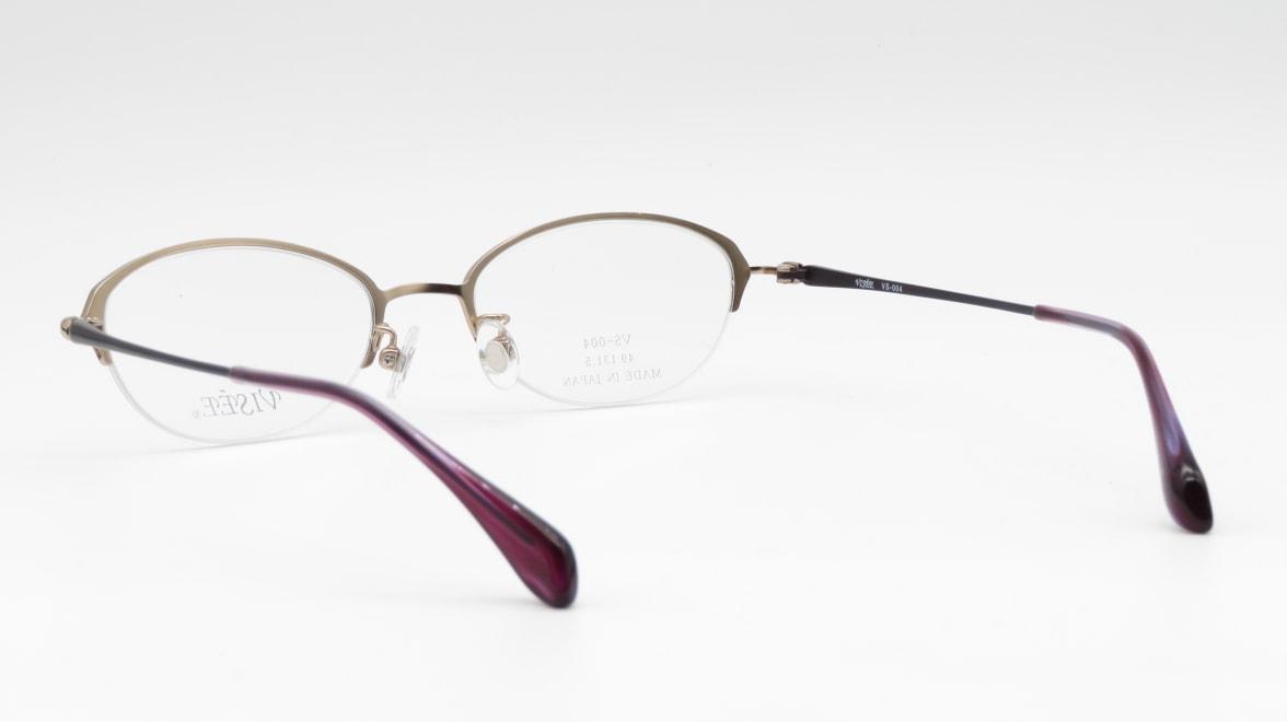 ヴィセ VS-004-2-49 [メタル/鯖江産/ハーフリム/オーバル/紫]  3