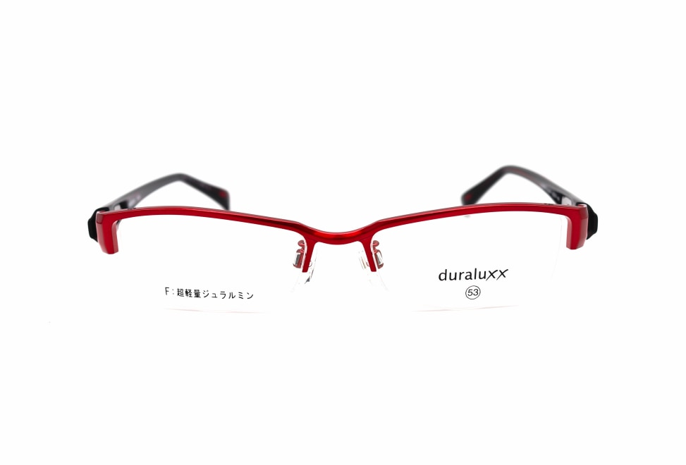 ジュラルックス DU1023-2ー53 [メタル/鯖江産/ハーフリム/スクエア/赤]