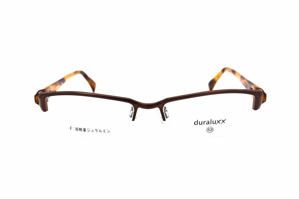 ジュラルックス DU1023-3ー53 [メタル/鯖江産/ハーフリム/スクエア/茶色]