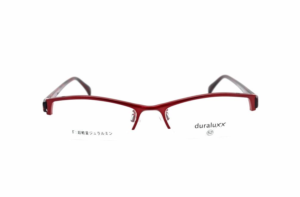 ジュラルックス DU1024-2ー52 [メタル/鯖江産/ハーフリム/スクエア/赤]
