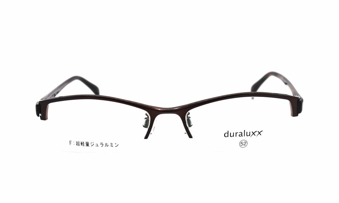 ジュラルックス DU1025-1ー52 [メタル/鯖江産/ハーフリム/スクエア/茶色]