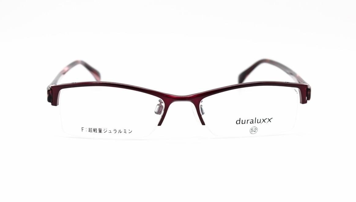 ジュラルックス DU1025-2ー52 [メタル/鯖江産/ハーフリム/スクエア/赤]