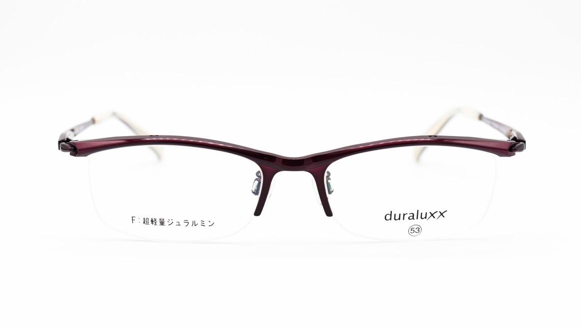 ジュラルックス DU1026-1ー53 [メタル/鯖江産/ハーフリム/スクエア/紫]