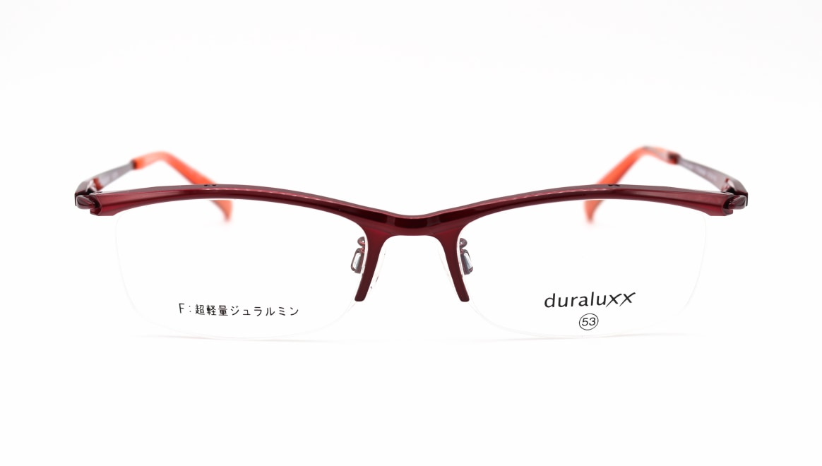 ジュラルックス DU1026-2ー53 [メタル/鯖江産/ハーフリム/スクエア/赤]