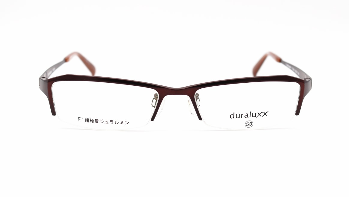 ジュラルックス DU1029-3ー53 [メタル/鯖江産/ハーフリム/スクエア/茶色]