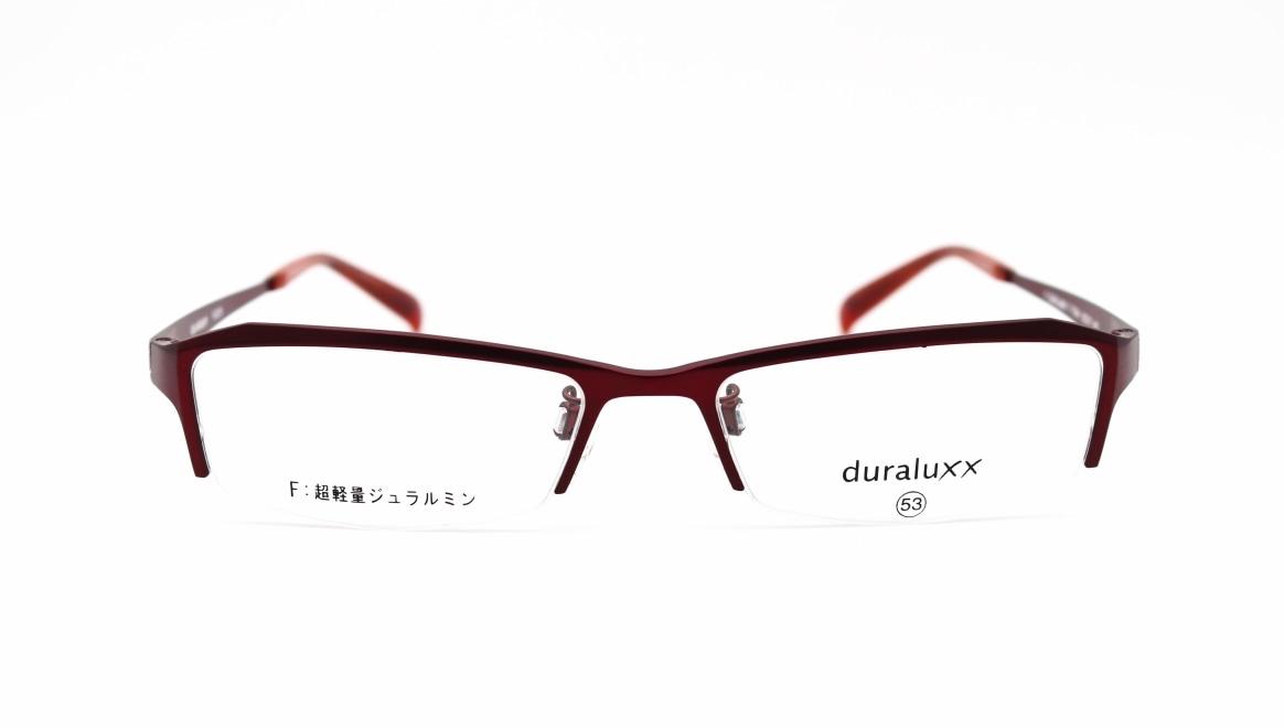 ジュラルックス DU1029-5ー53 [メタル/鯖江産/ハーフリム/スクエア/赤]