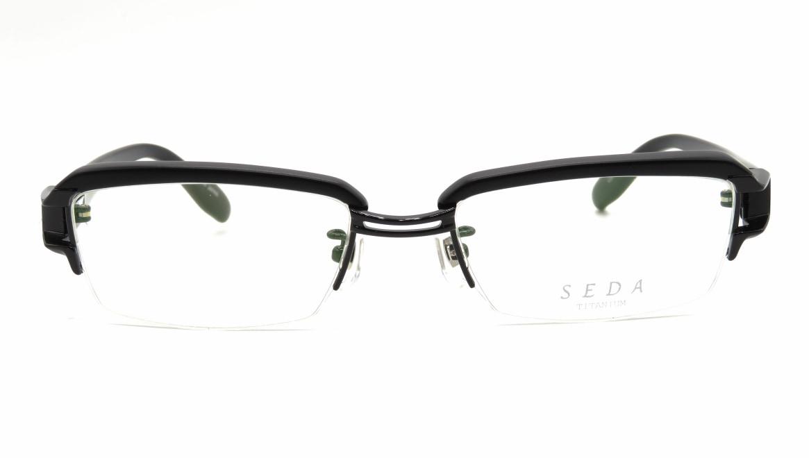 セダ SD-2169-02-53 [黒縁/鯖江産/ハーフリム/スクエア]